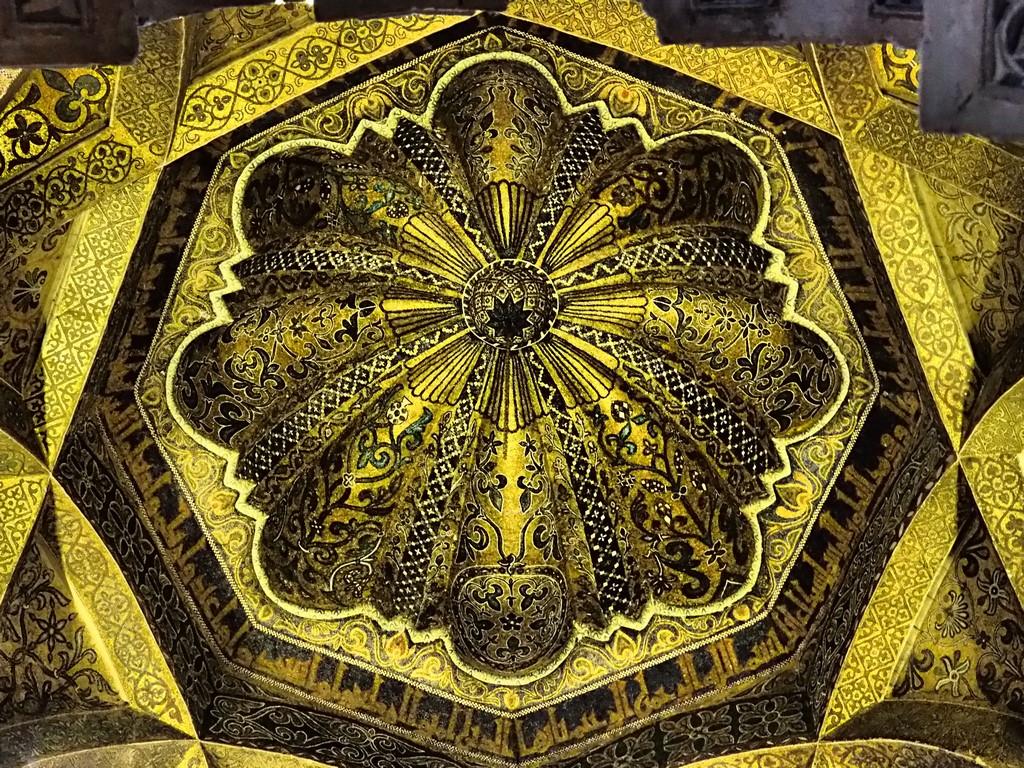 Die herrliche Kuppel über der Mihrab von Cordoba