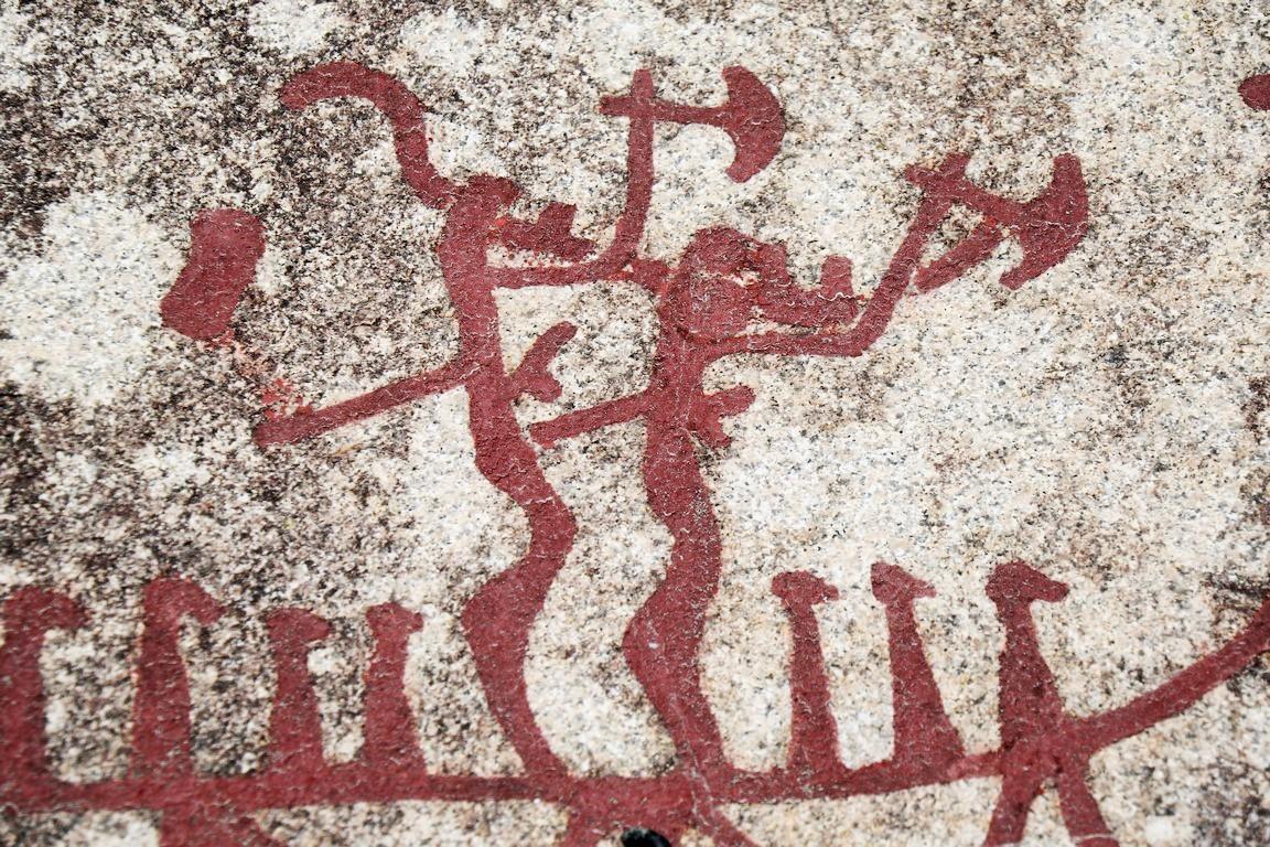 Krieger mit kretischen Äxten, Bronzezeit, Weltkulturerbe Tanum