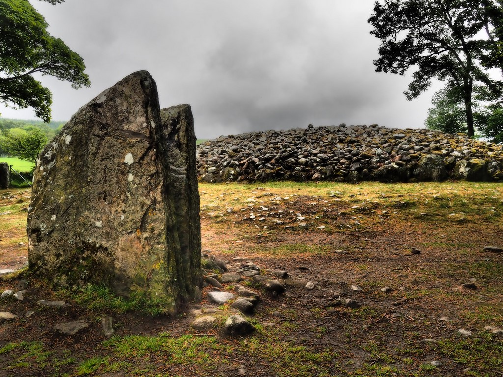 Cairn and standing stones of Clava, Scotland