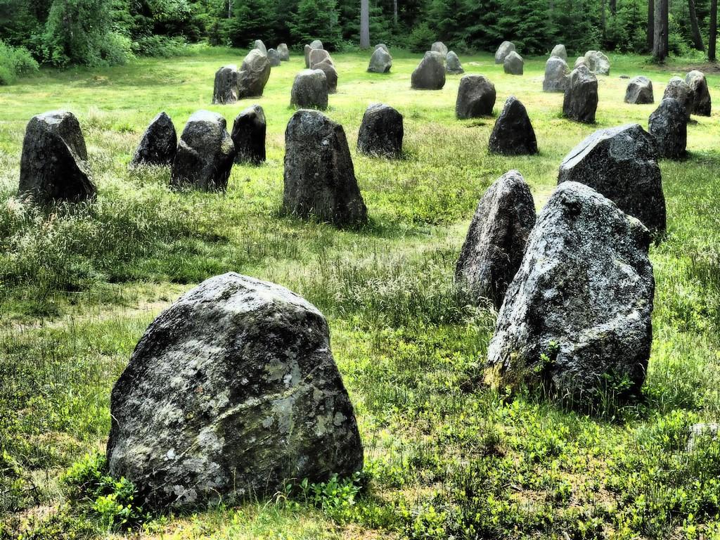 Steinkreise bei Hunn, Oldtiedsveign, Norwegen
