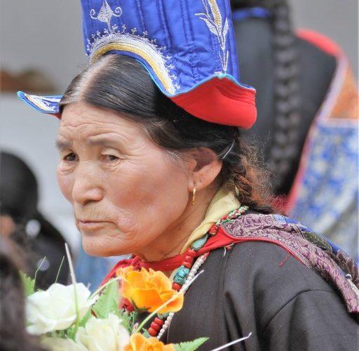 Ladakhifrau in Festracht