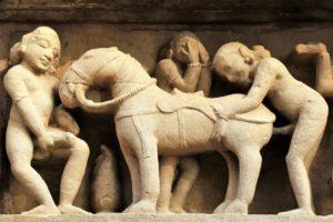 Erotische Darstellungen in Kajuraho