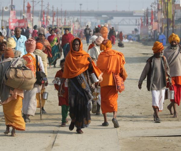 Ankunft auf der Kumbh Mela